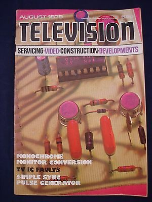 Vintage Television Magazine - August 1979 -  Birthday gift for electronics