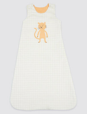 Baby Sleeping Bag Cotton Printed New Ex M&S 2.1 Tog 6 12 18 24 Months RRP £20