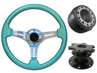 Mint Green Chrome Quick Release TS Steering Wheel + Boss Kit fits HONDA 42BK 048