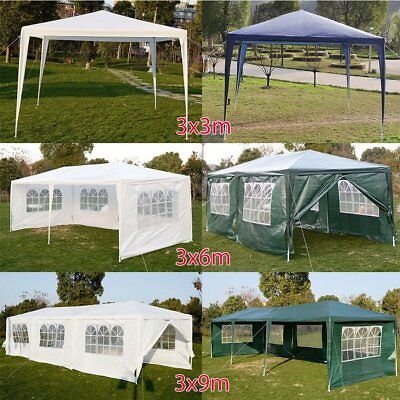 UK Party Tent Outdoor 120g PE Garden Gazebo Marquee Canopy Awning Wedding