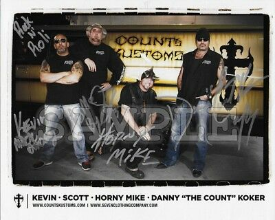 Counts Kustoms signed Cast 8x10 Autograph Photo RP - Free ShipN! History Channel