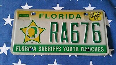 plaque d'immatriculation Florida Us RA676 Usa license plate