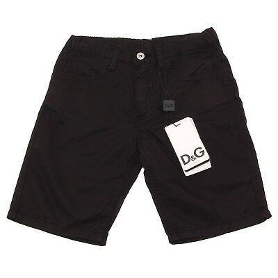 7061O bermuda nero bimbo D&G JUNIOR trousers shorts kids