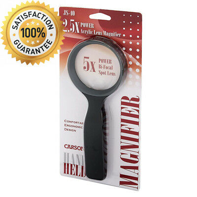 Carson HandHeld 2.5x Magnifier with 5x Spot Lens