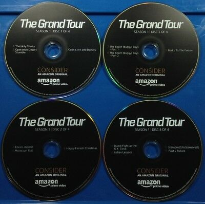 The Grand Tour DVD Set of 4 AMAZON FYC Complete Season 1 EMMY 2017 J. Clarkson