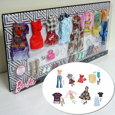 Barbie Fashion Outfits Wardrobe Multipack Doll Clothes Set Accessories Party Toy