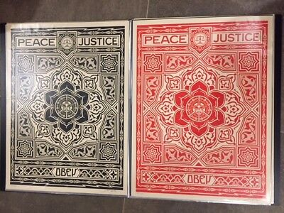 Shepard Fairey OBEY - Peace and Justice ornament set Signed Numbered 2012