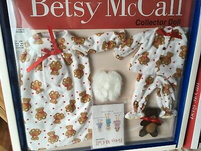 "Tonner BETSY McCALL Collection 14"" Doll Clothes PJ's & Teddybear SET OUTFIT NRFB"