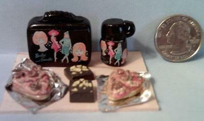 Barbie Doll Sized Barbie Fashions Vintage Style Lunch Box Set