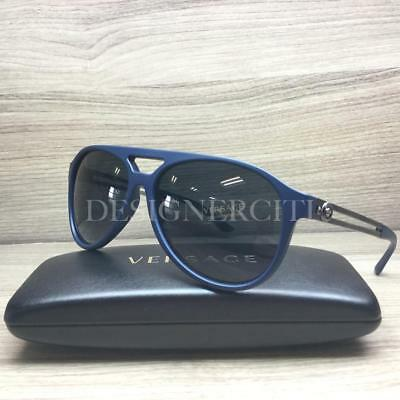 4dde2391d6366 Versace MOD 4312 Sunglasses Matte Blue Ruthenium 5176 87 Authentic 60mm