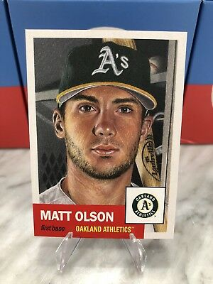 2018 Topps Living Set Matt Olson #21 Athletics