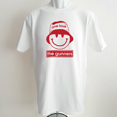 Arsenal FC T-shirt The Gunners One Love Acid Rave Smiley Bucket Hat Tshirt Gift