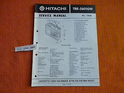 service manual hitachi trk 5450ex english schaltplan. Black Bedroom Furniture Sets. Home Design Ideas