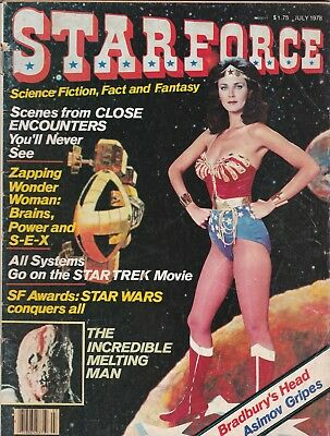 Star Force Magazine July 1978 Wonder Woman, Close Encounters. FREE SHIPPING