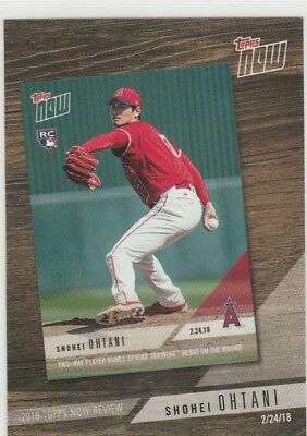 Shohei Ohtani, Los Angeles Angels, 2019 Topps Series 1 Topps Now