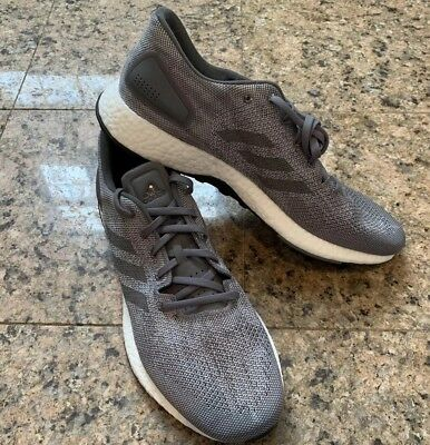 57eaac938d063 Men s Adidas PureBoost DPR Running Shoes Size 13 Grey Solid Gray White  Bb6291