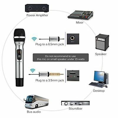 Hotec 25 Channel UHF Handheld Wireless Microphone with Mini Portable Receiver...