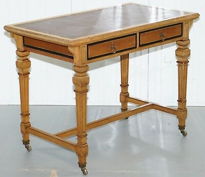 Very Rare Original Circa 1850 Gillow Stamped L3096 Desk Writing Table Gillows