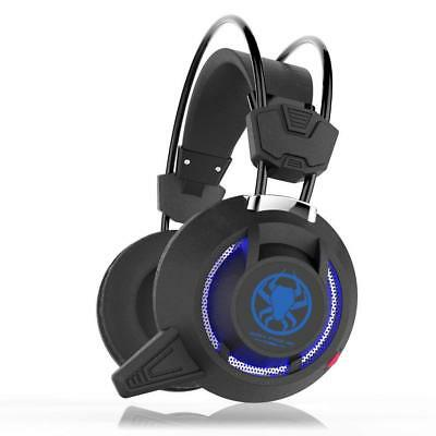 3.5mm Gaming Headset MIC LED Headphones PC835 for PC Mac Laptop PS4 Xbox One NEW