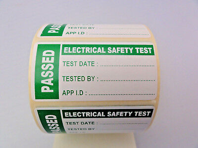 50 TO 300 PAT TEST LABELS PORTABLE APPLIANCE TEST PASSED STICKERS 25mm x 50mm