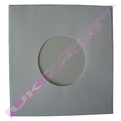 """25 SMALL 7"""" 45rpm WHITE PAPER RECORD VINYL SLEEVES INSERTS 180x180mm PROTECTORS"""