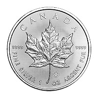 Lot of 10 x 1 oz 2019 Canadian Maple Leaf Silver Coin