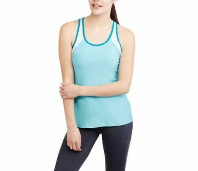 Avia Active Workout Tank Top Semi-Fitted Womens Singlet Blue White