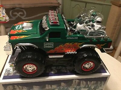 2007 Hess Monster Truck And 2 Motorcycles NIB New