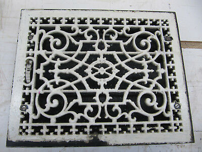 Antique Tuttle and Bailey Floor Heat Register Grate Cast Iron w/Damper 15 x 12