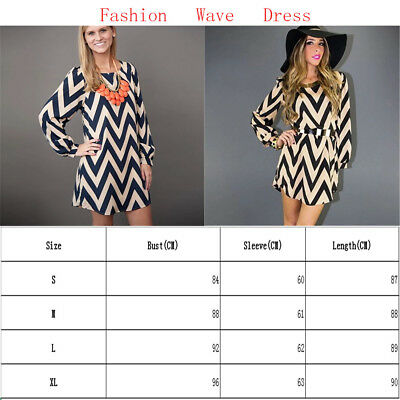 Summer Round Neck Wavy Long Dress Long-sleeved Skirt Party Clothes Printed