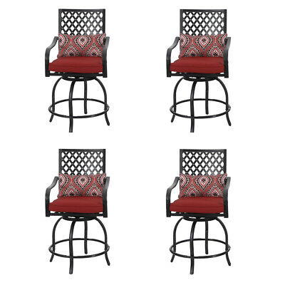 Astonishing Phi Villa Patio Bistro Swivel Bar Stools Set Of 4 Making Andrewgaddart Wooden Chair Designs For Living Room Andrewgaddartcom