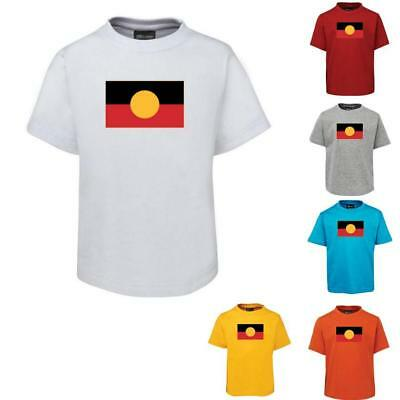 Aboriginal Flag Childrens T-Shirt (Colour Choices) - Sizes 2 4 6 8 10 12 14