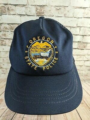 VTG Oregon State Police Hat Cap Trucker Mesh SnapBack Adjustable Made In Usa ac5ac348a13e