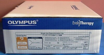 NEW Olympus HX-202UR QuickClip Pro Single Use Repositionable Clip 10 in Box 2019