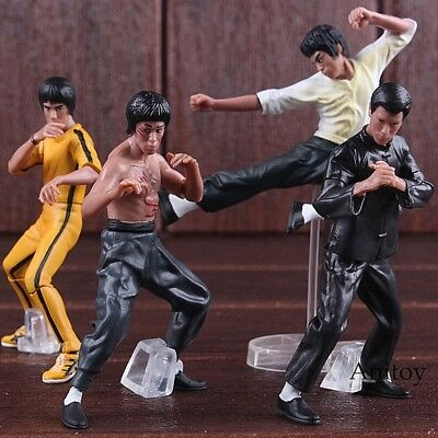 4pcs/set Cool Bruce Lee Kung Fu PVC Collection Model Action Figures Toys New in