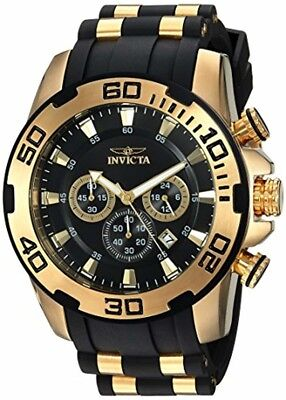 Invicta Men's 'Pro Diver' Quartz Stainless Steel and Silicone Casual Watch