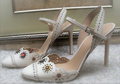 f97ea70a3fc Authentic Tory Burch Marguerite Perforated Slingback Sandal Shoes Size 10 M