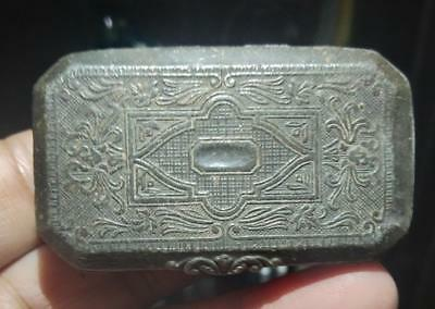 Malaysia malaya tin box small sultanate era 1600s rare xf !!!