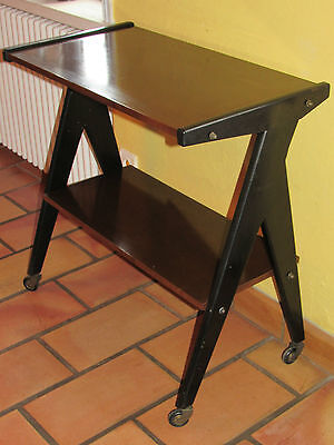 01C23 Antique Table Roulante Serving Tv Stand Feet Compass Hairsprays Design 50