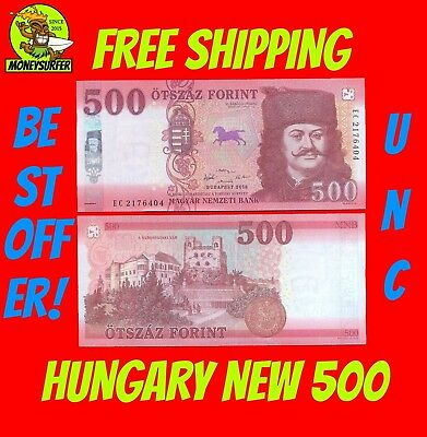 NEW  2018 - 2019 HUNGARY 500 HUF Forint Banknotes Uncirculated UNC FREE SHIPPING
