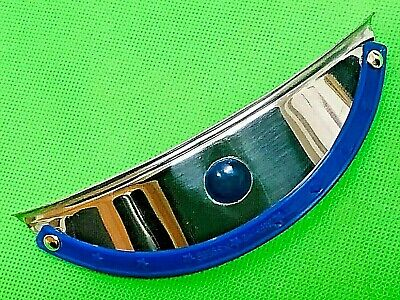 Biemme Blue Peak With Blue Gem Stainless Steel Headlamp Visor Vespa Lambretta