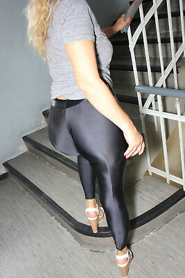 PUSSYRIOT Booty Leggings HL5AX Cameltoe Sexy Ass - PowerSpandex Black - S