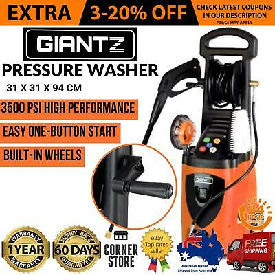 Giantz 3500psi High Pressure Washer Electric Water Cleaner Gurney Long Hose