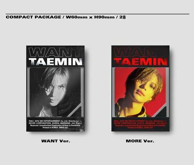 SHINEE TAEMIN [WANT] 2nd Mini Album (KIHNO 2 Ver SET) KIT+P. Card+Poster +GIFT