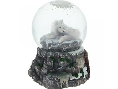 Guardian of the North Snowglobe by Lisa Parker Wolf NEMESIS NOW