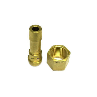 """Swp 3/8"""" Bsp Female Thread To 3/8"""" Hose Fitting Right Hand Nut + Hose Tail Set"""