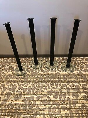 4 Piece Speaker Stands With Glass Bottom 33 Inches tall