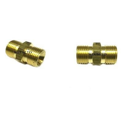 """3//8/"""" TO 3//8/"""" BSP MALE RIGHT HAND THREADED COUPLER REDUCER 1310 x 2"""