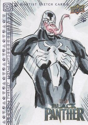 Black Panther, Sketch Card by Anthony Helmer 1/1