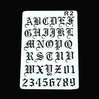 Re-usable Letters Alphabet and Numbers  Stencil Template for Arts and Crafts